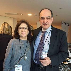 Mercè con el doctor mariano velez de la sociedad española de laser medico quirurgico, experto en tratamientos láser.
